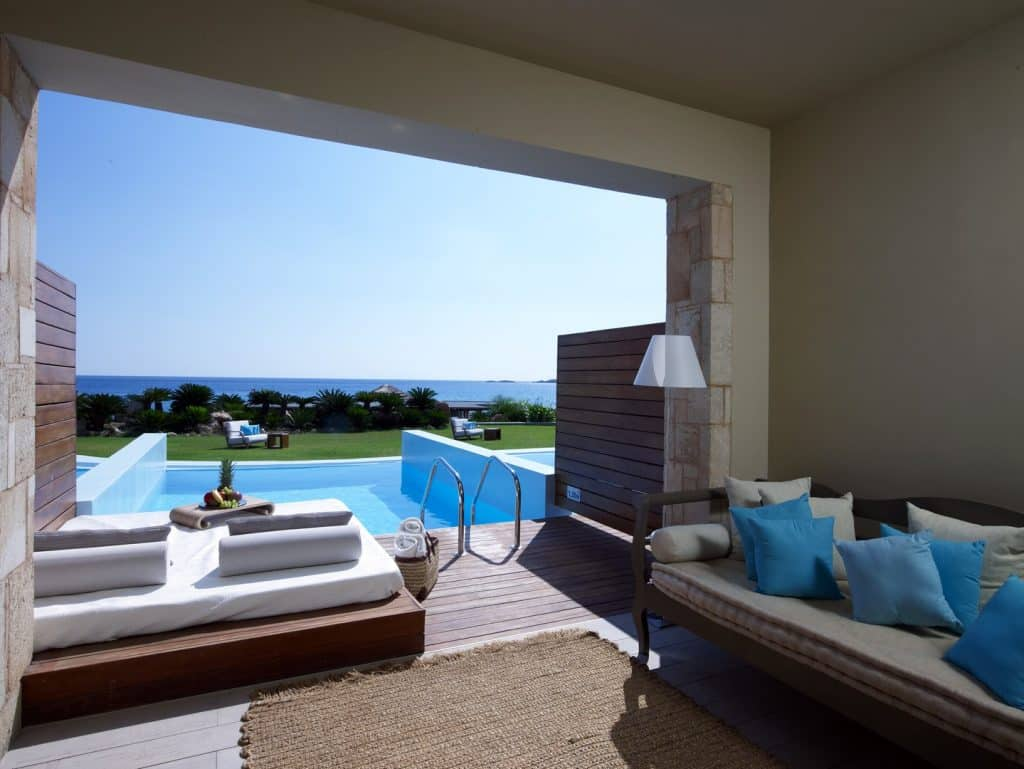 Erwachsenenhotel Aquagrand Luxus Resort & Spa, Princess Private Pool Suite Terrasse