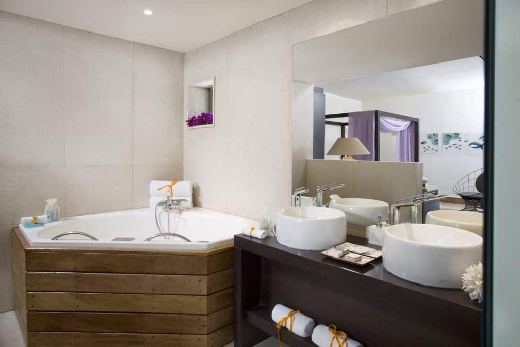Erwachsenenhotel Aquagrand Luxus Resort & Spa, Prestige Suite Badezimmer