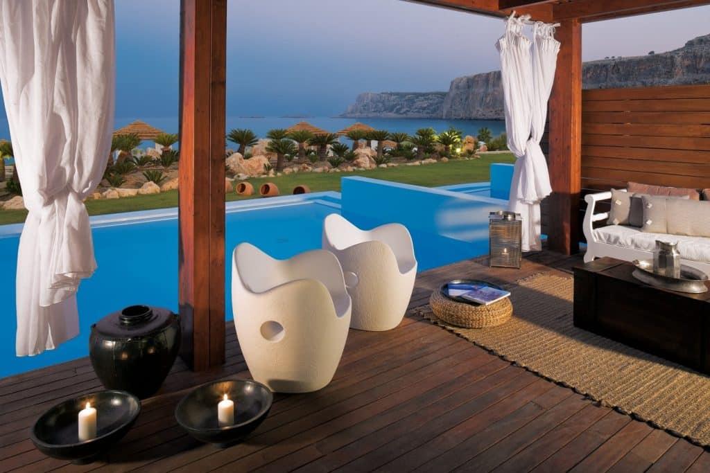 Erwachsenenhotel Aquagrand Luxus Resort & Spa, Queen's Maisonette Terrasse